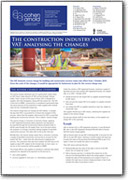 The construction industry and VAT: analysing the changes